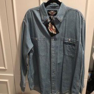 Men's Denim Harley Davison shirt
